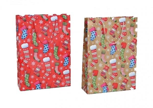 Weihnachtliche Geschenketüte 25 x 8 x 34 cm