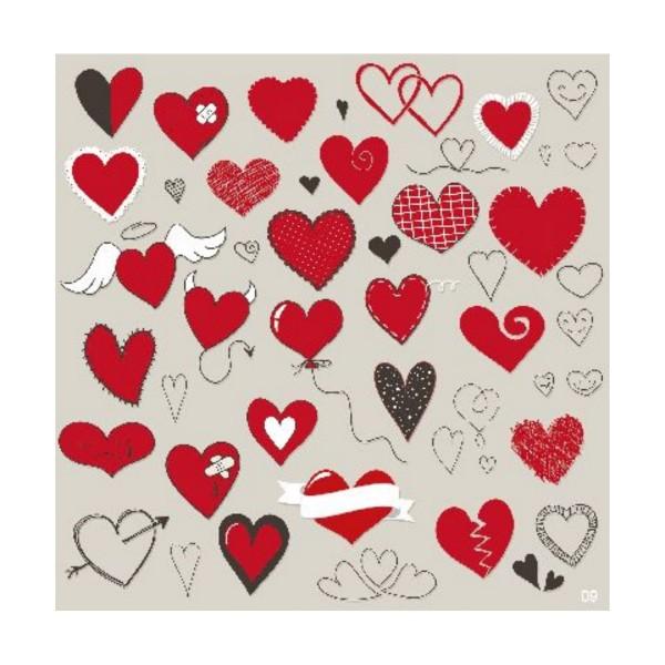 Musikkarte Herzen