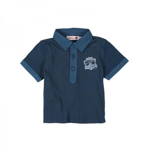 Bóboli Jungen Poloshirt Summer is coming kurzärmlig blau Gr. 68 - 92