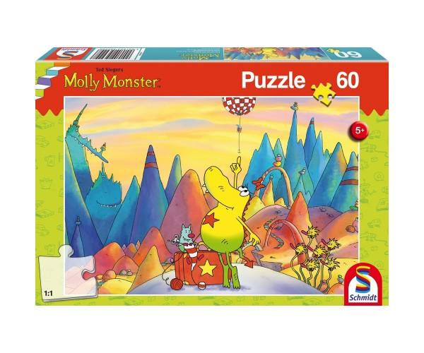 Schmidt Spiele Kinder Puzzle 60 Teile Molly Monster auf Reisen