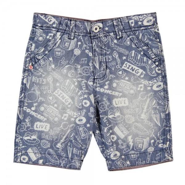 Bóboli Jungen Jeans-Shorts Alloverprint Gr. 98 - 164