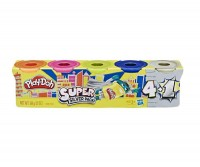 Hasbro Play-Doh 4-Pack plus 1 Silber