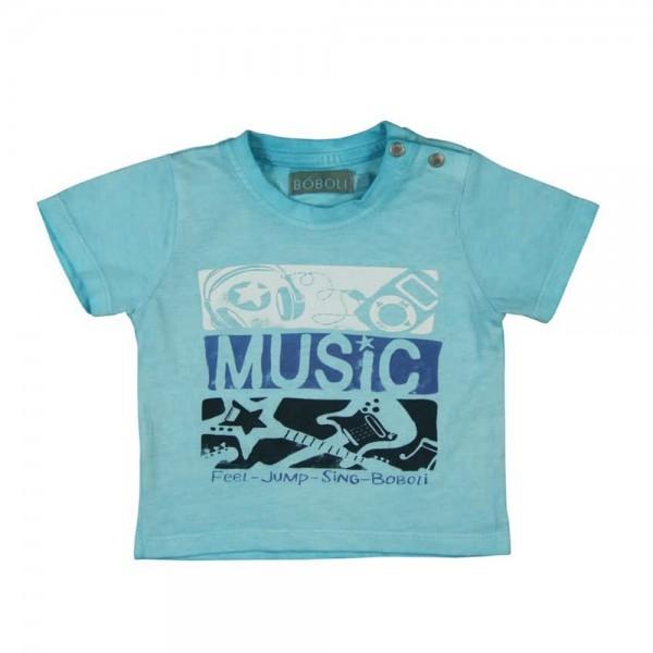Bóboli Jungen T-Shirt Music türkisblau Gr. 62 - 92