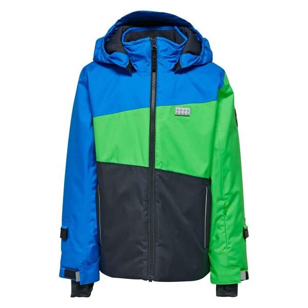 LegoTec Jungen Ski-Jacke Blau-Grün Jakob 881 Gr. 110 - 164
