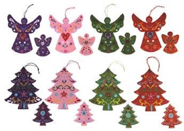 GLOBAL AFFAIRS - Weihnachtsanhänger Holz in verschiedenen Varianten