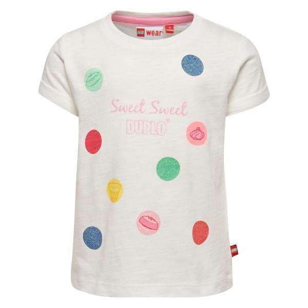 Lego Wear Mädchen T-Shirt Sweet Sweet weiß Gr. 74 - 104