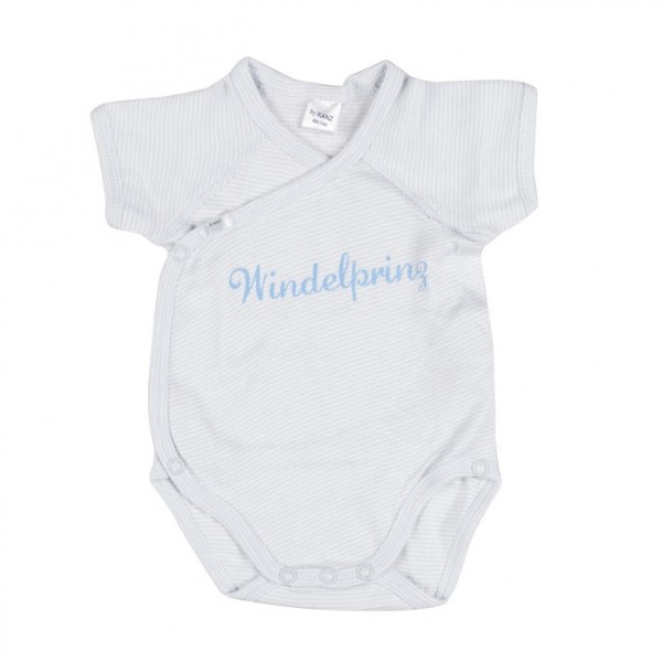 KANZ Jungen Baby Wickelbody Windelprinz Kurzarm Gr. 50 - 68