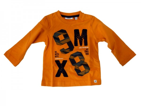 MEXX Jungen Kinder Langarmshirt orange pepper Gr. 74 - 92