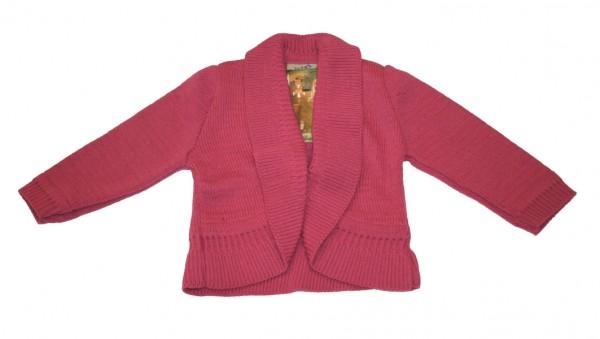 Mädchen Trachten Strickjacke pink Gr. 68 - 164
