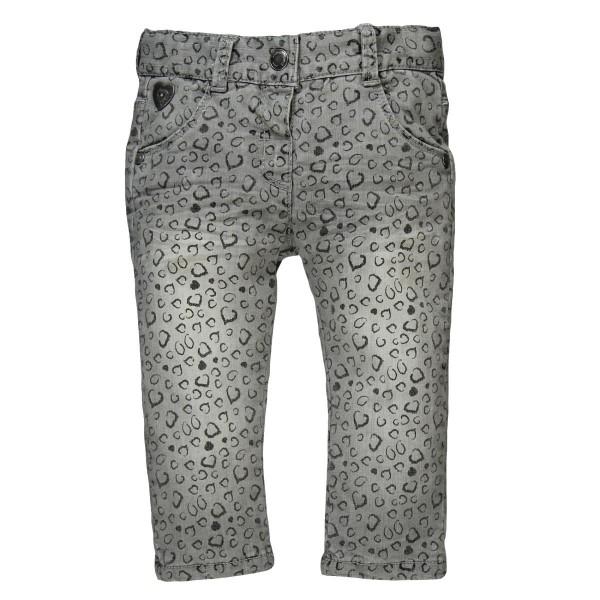 Bóboli Mädchen Jeans grau Alloverprint Gr. 74 - 104