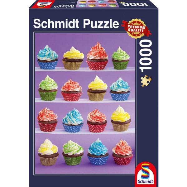Schmidt Spiele Puzzle 1000 Teile Cupcakes-Spaß