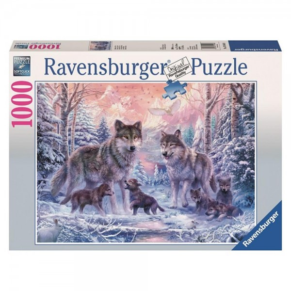 RAVENSBURGER 1000 Teile Puzzle Arktische Wölfe