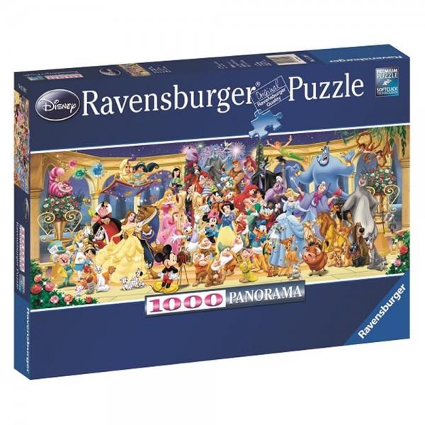 RAVENSBURGER 1000 Teile Panorama Puzzle Disney Gruppenfoto
