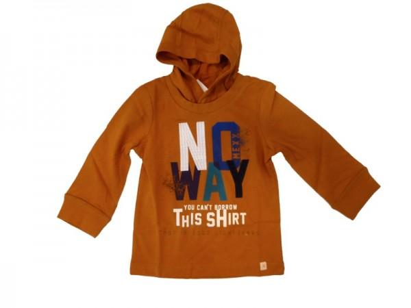MEXX Jungen Kinder Langarm-Shirt mit Kapuze marmalade Gr. 74 - 92 86