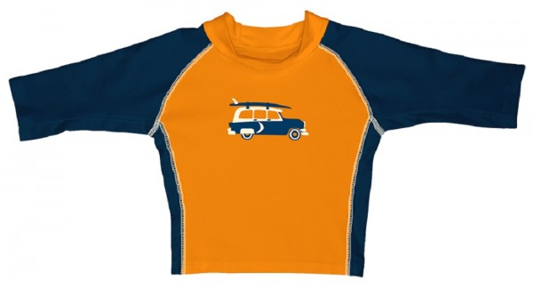 i play Jungen Kinder Schwimmshirt orange/dunkelblau