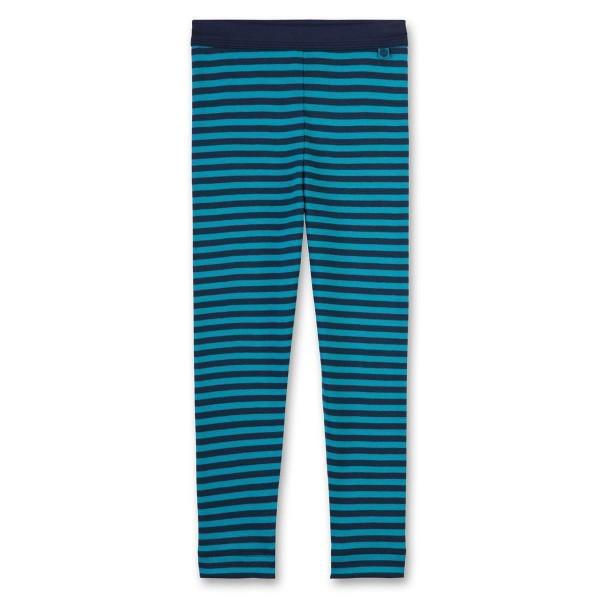 Sanetta Jungen Unterhose lang grün-blau gestreift Gr. 92 - 140