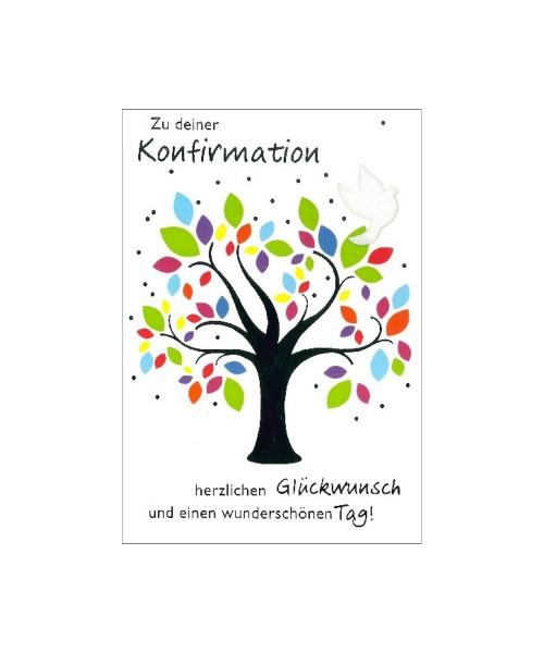 Glückwunschkarte zur Konfirmation