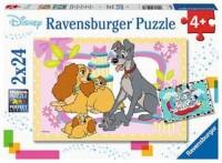 Ravensburger Kinder Puzzle 2 x 24 Teile Disneys liebste Welpen
