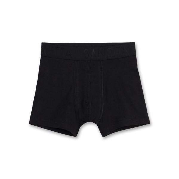 Sanetta Jungen Unterhose (Hipshorts) schwarz Gr. 128 - 164