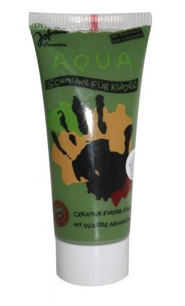 Jofrika Kinderschminke Aqua Make-up Fingerfarbe Tube grün