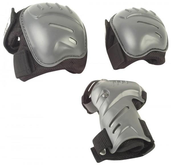 Hudora Biomechanisches Protektorenset Gr. M schwarz/grau (83030)