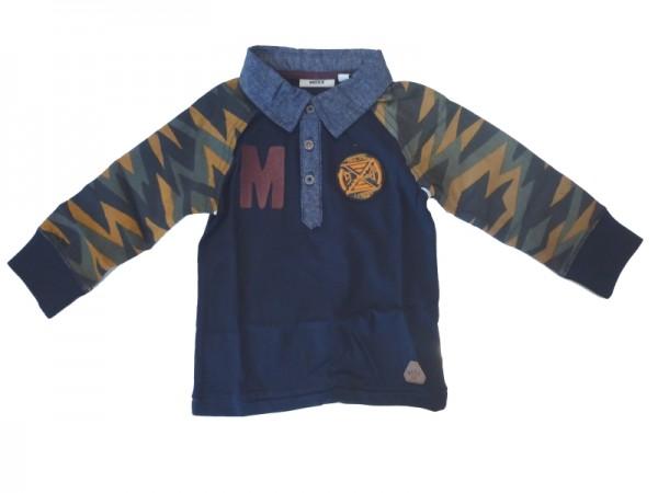 MEXX Jungen Kinder Poloshirt Langarm dark sapphire Gr. 80