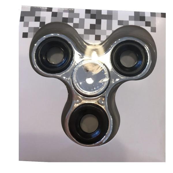 Fingerkreisel Fidget Spinner metallic Look silber