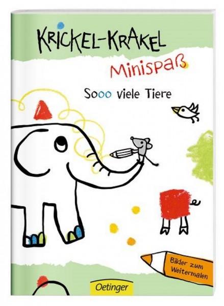 Krickel-Krakel Mini-Malbuch Sooo viele Tiere!