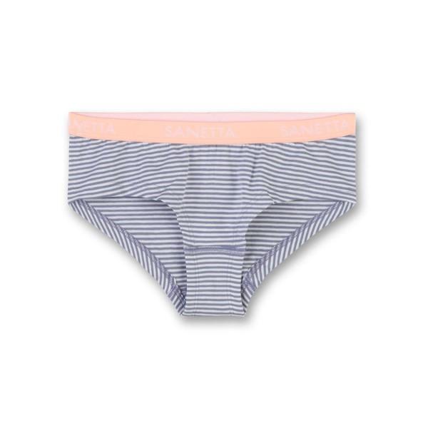Sanetta Mädchen Unterhose (Hipster) grau weiß gestreift Gr. 128 - 164