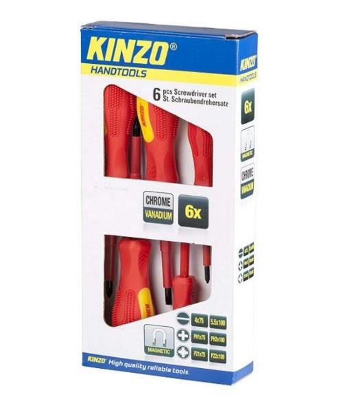 Kinzo Vanadium GS 6-teilges Schraubendreher Set