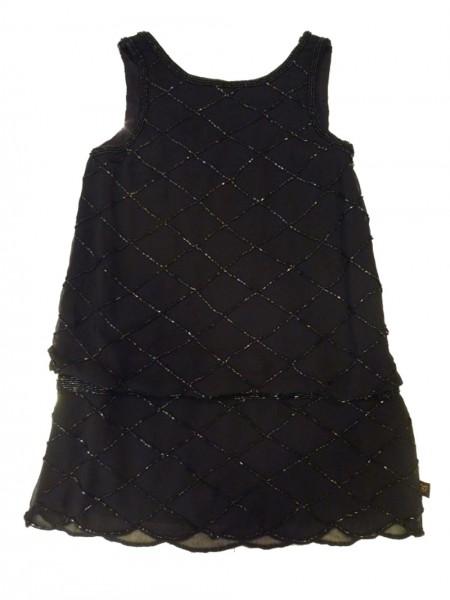 MEXX Mädchen Kinder Kleid Glitzer schwarz Gr. 98 - 152