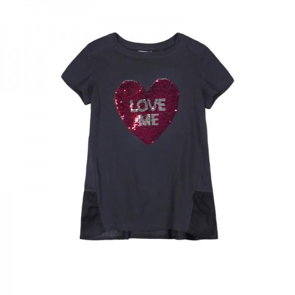 Bóboli T-Shirt mit Pailetten-Herz Love me Gr. 98 - 164