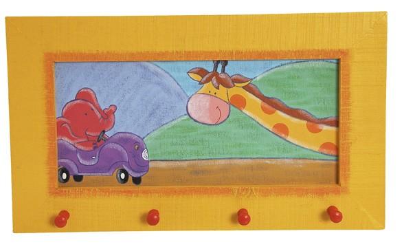 TRÄ PRESENT Kinder Garderobe Elefant und Giraffe