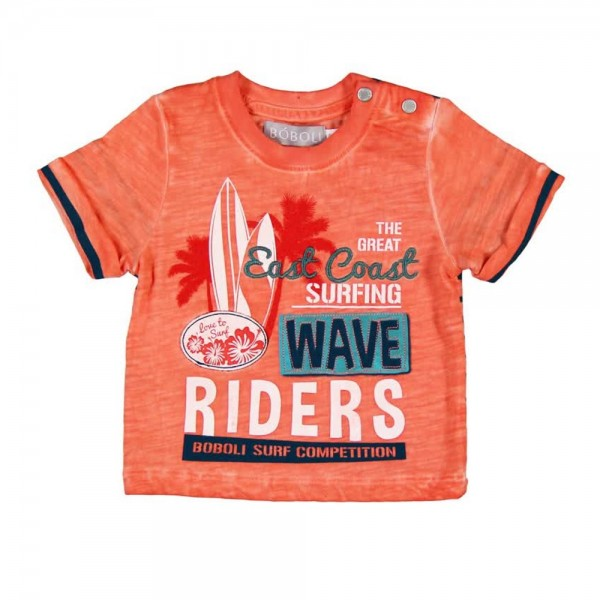 Bóboli Jungen T-Shirt Hawai orange Gr. 62 - 92