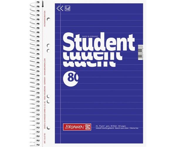 Collegeblock liniert A5 Student