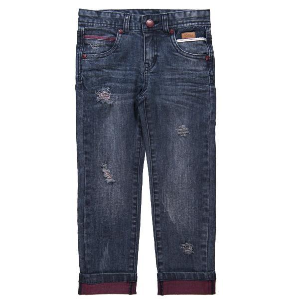 Bóboli Jungen Kinder Jeans blau used Look Gr. 98 - 164