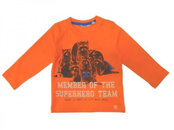 MEXX Jungen Kinder Langarmshirt vibrant orange Gr. 74 - 92