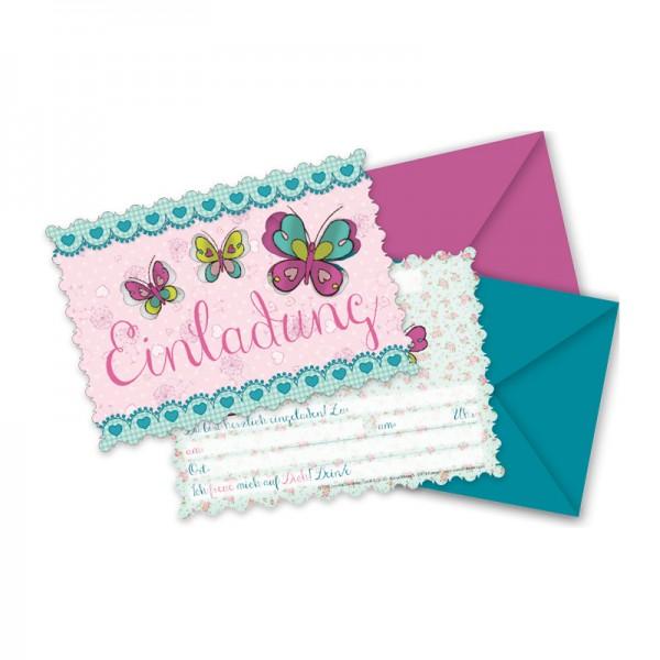Lutz Mauder Einladungskarten Set Schmetterlinge