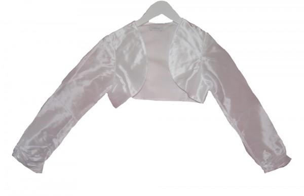 MONNY festliche weiße Bolero-Jacke Taft für Kommunion, Hochzeit Gr. 134 - 146
