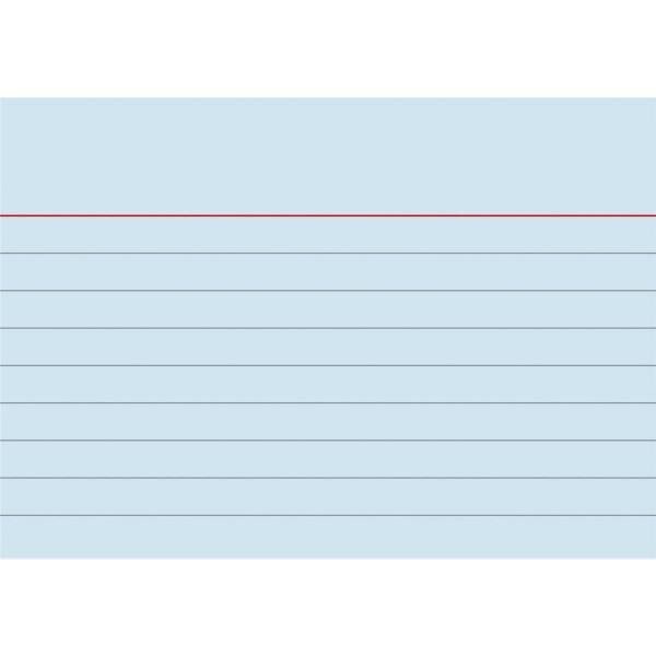 Karteikarten liniert A7 blau