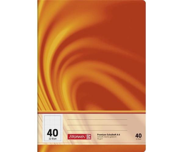 Schulheft A4 kariert Lineatur 40 (32 Blatt)