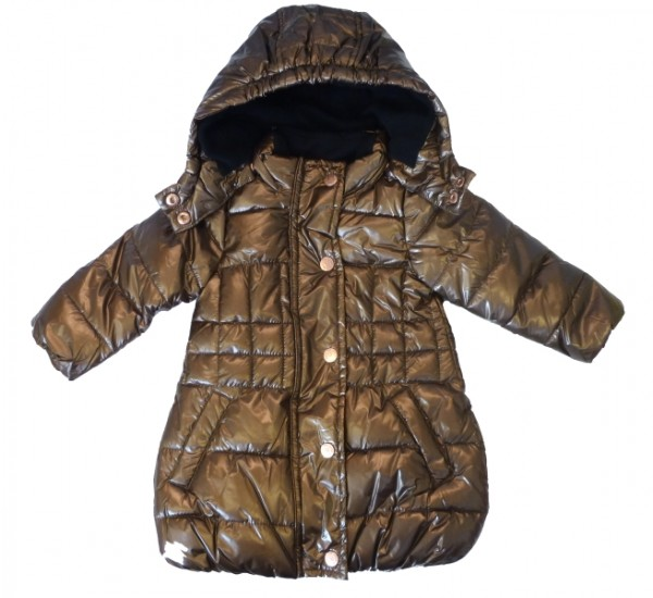 MEXX Mädchen Kinder Winterjacke metallic copper Gr. 74 - 92
