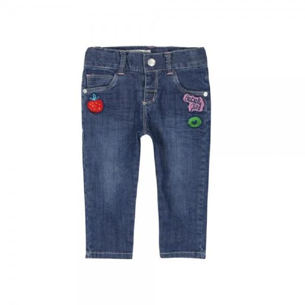 Bóboli Mädchen Jeans blau mit Applikationen Gr. 68 - 92