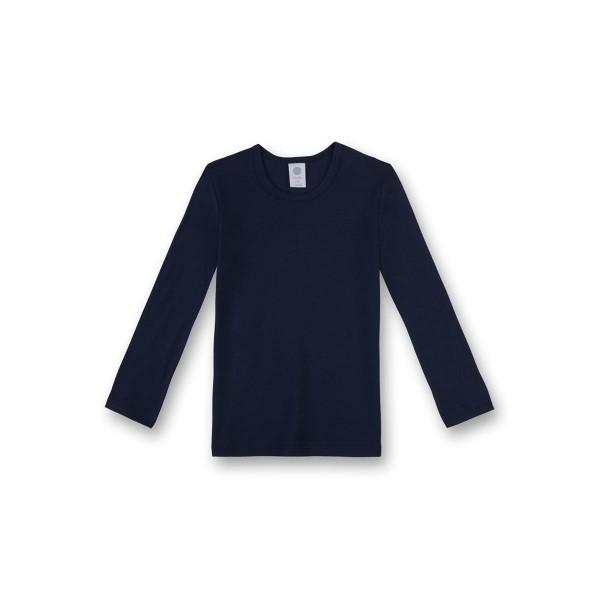 Sanetta Jungen Unterhemd Langarm dunkelblau Gr. 92 - 140