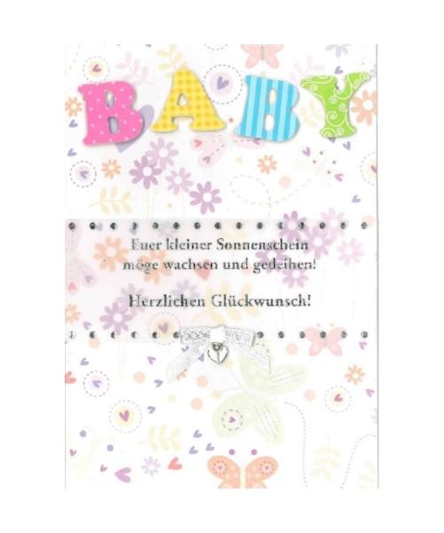 Glückwunschkarte zur Geburt Baby - Euer kleiner Sonnenschein...