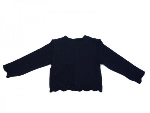 Trachten Strickjacke für Mädchen schwarz Gr. 68 - 92