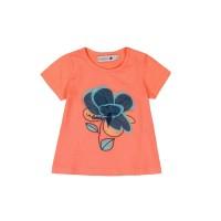 Bóboli Mädchen T-Shirt Blume apricot Gr. 68-92