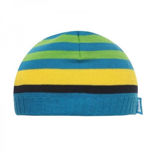 Döll Jungen Baby Strick-Topfmütze blau gestreift