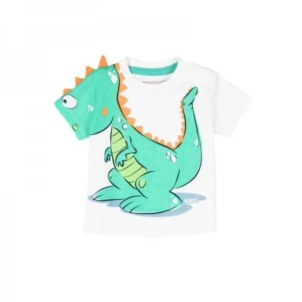 Bóboli Jungen T-Shirt Dino kurzärmlig weiß Gr. 56 - 92