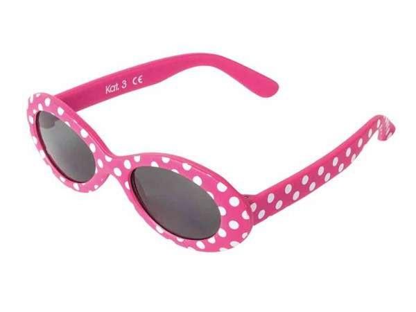 bb Klostermann Kinder Sonnenbrille Flex pink mit weißen Punkten